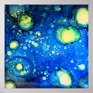 Starry målning för himmelalkoholbläck poster