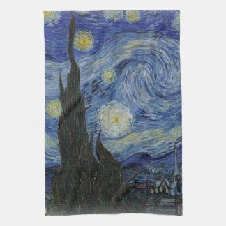 starry natt av Van Gogh Kökshandduk