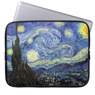 Starry natt av Vincent Van Gogh 1889 Laptop Sleeve