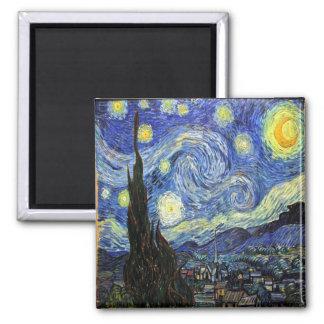 Starry natt av Vincent Van Gogh 1889 Magnet
