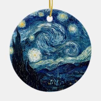 Starry natt av Vincent Van Gogh Julgransprydnad Keramik