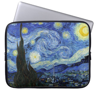 Starry natt av Vincent Van Gogh Laptop Sleeve