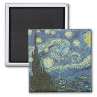 Starry natt av Vincent Van Gogh Magnet