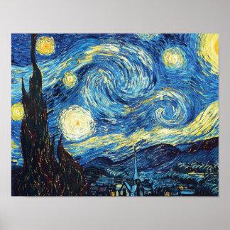 Starry natt av Vincent Van Gogh Poster