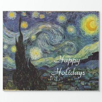 Starry natt av Vincent Van Gogh. Presentpapper
