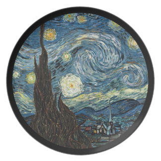 Starry natt av Vincent Van Gogh Tallrik