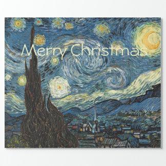 Starry natt för god jul av Vincent Van Gogh. Presentpapper