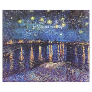 Starry natt över Rhonen av Van Gogh. Vintage Presentpapper