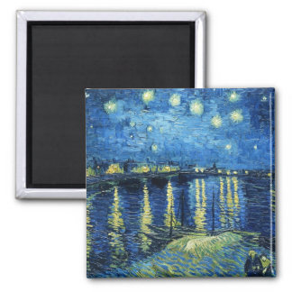 Starry natt över Rhonen Vincent Van Gogh Magnet