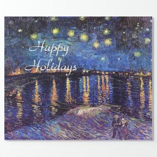 Starry natt över Rhonen, Vincent Van Gogh. Presentpapper