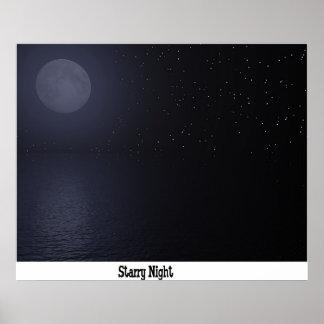 Starry natt poster