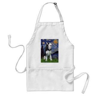 Starry natt - siberian husky #1 förkläde