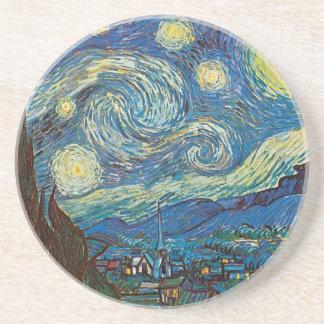 Starry natt vid den Vincent Van Gogh kustfartyget Underlägg