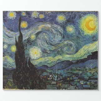 Starry natt Vincent Van Gogh gåva Presentpapper