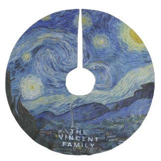 Starry natt Vincent Van Gogh Julgransmatta Borstad Polyester