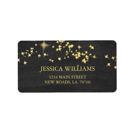 Starry posta på nätterna etiketter adressetikett