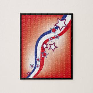 Stars och stripes - 4th av Juli Pussel