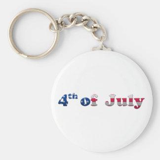 Stars och stripes 4th Juli Keychain Rund Nyckelring