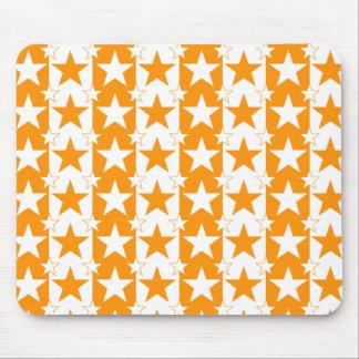 Stars och stripes mönstrar orange 2 mus matta