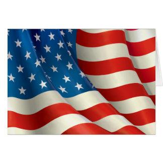 Stars och stripes som vinkar U.S.-flagga OBS Kort