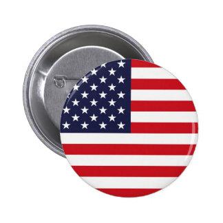 Stars och stripes standard knapp rund 5.7 cm