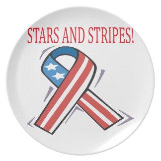 Stars och stripes tallrik