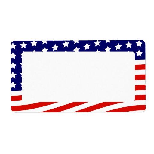 Stars och stripesamerikanska flaggan Juli 4th Fraktsedel