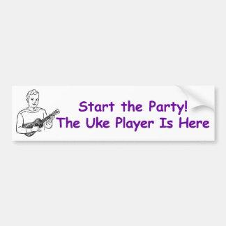 Starta partyet! Den Uke spelare är här Bildekal