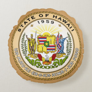 State förseglar av Hawaii Rund Kudde