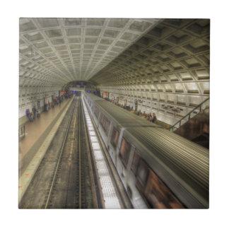 Station för tåg för Washington DC-Metro Kakelplatta