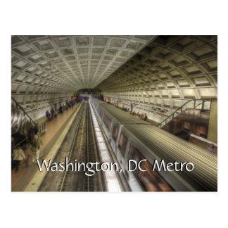 Station för tåg för Washington DC-Metro Vykort