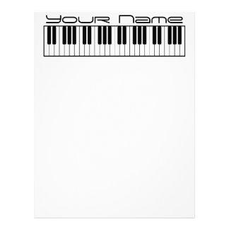 Stationär pianotangentbordbrevhuvud brevhuvud