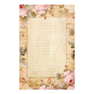Stationära vintagero brevpapper
