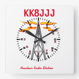 Stationen tar tid på för skinka radiosände fyrkantig klocka