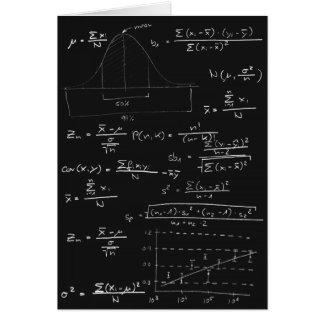 Statistikblackboard Hälsningskort