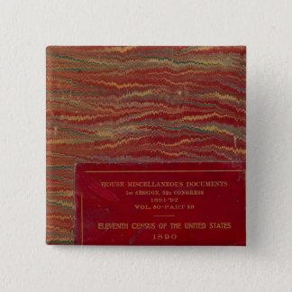 Statistisk kartbok United States Standard Kanpp Fyrkantig 5.1 Cm