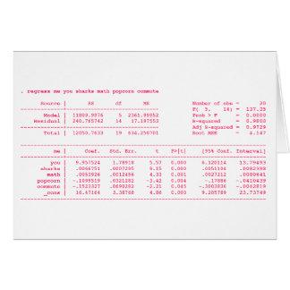 (statistiskt) viktigt annan nerdy valentin hälsningskort