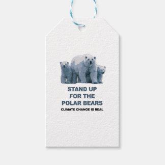 Stativ upp för de polara björnarna presentetikett