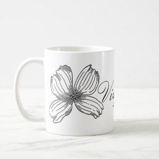 Statlig blomma för Dogwood och vit för Virginia Kaffemugg