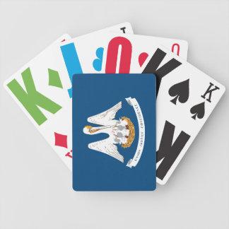 Statlig flagga av Louisiana som leker kort Spelkort