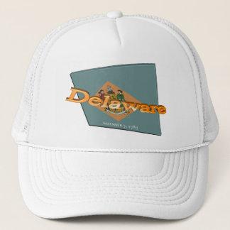 statlig flagga för 3D Delaware Truckerkeps