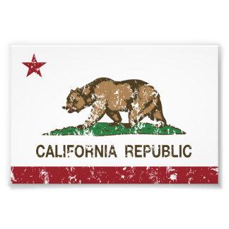 statlig flagga för Kalifornien flaggarepublik Fototryck