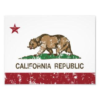 statlig flagga för Kalifornien flaggarepublik Fotokonst