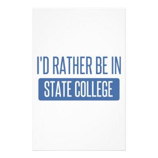 Statlig högskola brevpapper