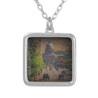Statlig huvudstad i Boise, Idaho Silverpläterat Halsband