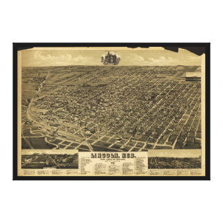 Statlig huvudstad Lincoln, Nebraska (1889) Canvastryck