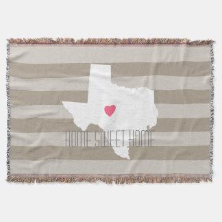 Statlig kärlek för Texas kartahem med Mysfilt