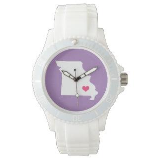 Statlig klocka för lila purpurfärgat