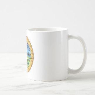 Statliga Iowa förseglar flagga för Amerika Kaffemugg