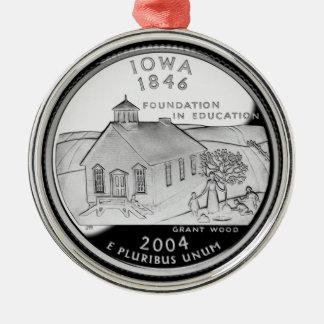 Statliga Iowa inkvarterar Julgransprydnad Metall